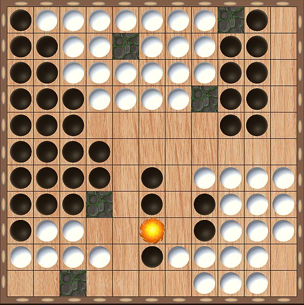 Tama mit Feuerball und 5 Blockern